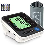 Blood Pressure Monitor for Home Use with Large 3.5'' LCD Display, Wowgo Digital Upper Arm Automatic Measure Blood Pressure and Heart Rate Pulse with Wide-Range Cuff,Three-Color Backlight Display