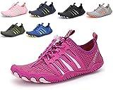 ZKPZYQ Escarpines de baño para hombre y mujer, zapatos de agua, zapatos de playa, zapatos de secado rápido, zapatos transpirables, zapatos de surf (41, rojos)