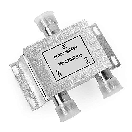 2 Voies Power Splitter Repartiteur de Puissance Distributeur 380 2700MHz N Femelle pour BoosterAmplificateurRepeteur