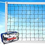 Professional Volleyball Net Outdoor Sand, Grass Volleyball Nets for Backyard, Portable Beach Kids Badminton Net Pro Volleyball Practice Net Set 32X3FT Indoor Volleyball Net for Pool Inground, No Poles