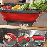 Appareils de cuisine vaisselle fruits et légumes pliables panier de vidange pliable,Red