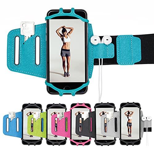 J.A.N-GreenLife Multifunktionales Sportarmband für Smartphones – kompatibel mit nahezu Allen Handys (iPhone, Samsung, Huawei, usw), für Ober- und Unterarm, handyhalterung für Joggen, Fitness, Sport