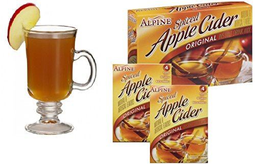 Spiced Hot Apple Cider Instant Mix Packets Alpine Original Apple Flavor 10 Beverage Pouches