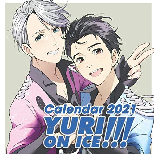 Yuri!!! On Ice: 12-month Calendar 2021 - 8.5''x8.5'' - Anime Calendar