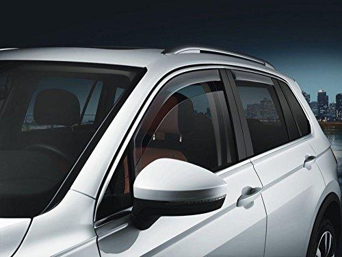 Volkswagen 5NL072190 Windabweiser Türen 4-teilig v+h Regenabweiser Acrylglas rauchgrau (nur für Allspace)