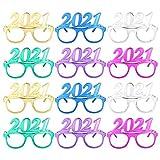 Carnavalife Pack de 12 Gafas de Disfraz para Fin de Año, con Diseño Elegante, Aniversario,...