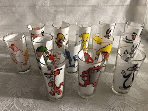 Vintage 1973 Pepsi Looney Tunes Drinking Glasses - Set of 13