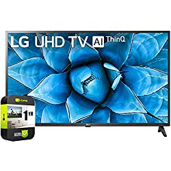 commercial LG 50UN7300PUF 50 inch UHD 4K HDR AI smart TV included in 2020 model, extended protection plan for 1 year lg 50 inch