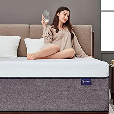 Queen Mattress, Ssecretland 6 inch Gel Memory Foam Mattress with CertiPUR-US Certified Foam (Mattress Only) -Medium Feels-Bed Mattress in a Box, Queen Size
