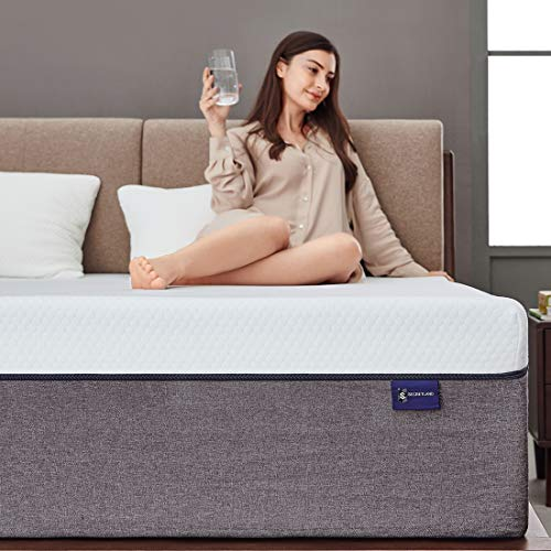 King Mattress, Ssecretland 12 inch Gel Memory Foam Mattress with Breathable Cover (Mattress Only) Medium Feels-Bed Mattress in a Box