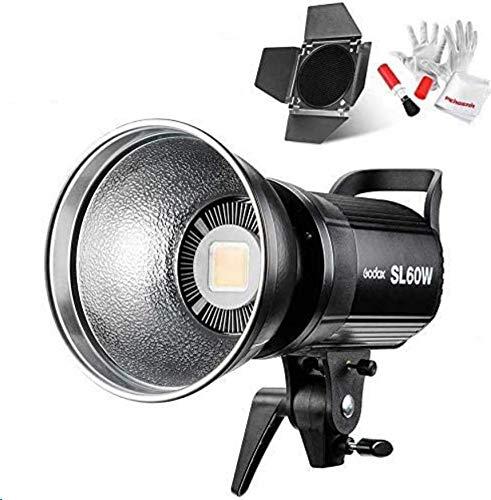 【PSEマーク&Godox正規代理】GODOX SL60W定常光ライト ファンアップグレード版 60W ledビデオ撮影照明 SL60 W スタジオ撮影 ボーエンズマウント5600±300K BD-04バーンドア同梱 ビデオ 写真撮影など