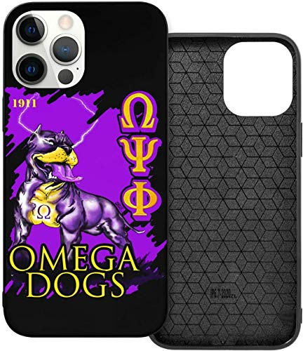 Ome-ga Psi-Phi Bulldog iPhone 12 Case,TPU Full Protective Cases Cover,Durable and Strong for iPhone 12/12 Pro/12Mini/12 Pro Max