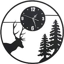 Wall clock الإبداعية الشمال الغزلان رئيس ساعة النمط الصيني مجانا لكمة كتم ساعة الزخرفية ساعة الحائط Living Room Decor