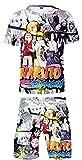 Silver Basic New Ensembles Haut&Shorts Naruto Ninja Manga Tenue de Sport Eté Transpiration Enfant Garçon XS,6744-1