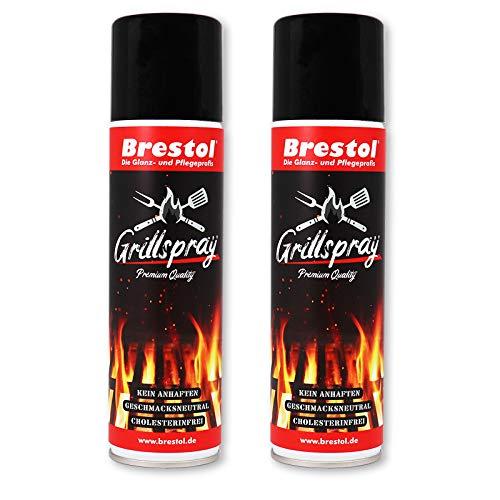 Brestol Grillspray 2X 200 ml (7552.2) - Trennfett zum Grillen Antihaftspray Trennspray Trennmittel Grillen Vegan