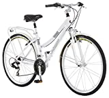 Schwinn Discover Hybrid Bike for Men and Women, 21-Speed, 28-inch Wheels, 16-inch/Small Frame, White