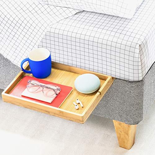 BedShelfie Slide Das Original Nachttisch Regal - 3 Farben / 3 Größen - GESEHEN AUF Business-Insider und Kickstarter (Slide, Bambus in Natürlich)