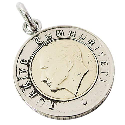 本物のトルコのコインペンダント(1) メンズ レディース ネックレス 硬貨 アラビア