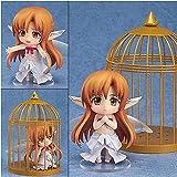 WIJJZY Sword Art Online Hermosa Chica en Jaula de pájaros Q Versión Yuuki Asuna Hada Fairy Danza Figura Figura de acción Animated Character Modelo Estatua de decoración para Regalos y decoración