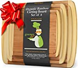 Wood Bamboo Cutting Board – Set of 3 – 3-PIECE PREMIUM VALUE PACK – 1 XL Extra Large, 1 Medium, 1 Small Wooden Chopping Cutting Boards Sets for Kitchen, Fruit, Vegetables, BBQ, Meat