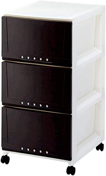 Zzg 2 Drawer Type Storage Box Plastic Bedroom Wardrobe Hall Locker Multi Layer Finishing Cabinet 68 108CM Color Brown Size 344268CM
