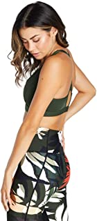 Rockwear Activewear Women's Mi Autumn Haze Zip Sports Bra From size 4-18 Medium Impact Bras For