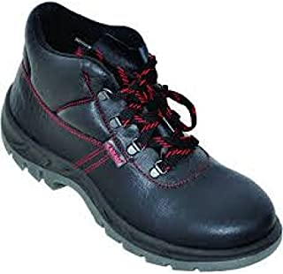 Karam Leather Safety Shoes FS-21 Ankel Protection - Size 9, Black