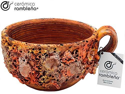 Keramiek Rambleña | tafeldecoratie bloempot zeebeker | centrale keramiek | Decoratie | Deco vaas | 100% handgemaakt | 30 x 30 x 16 cm
