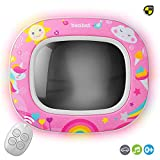BenBat Baby Car Mirror - Safety Car Seat Mirror for Rear Facing Infant - Shatterproof Clear Wide Vision Day and Night - Entertain See and Soother with Remote control - Crash Tested and Certified, Pink