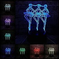 giyiohok 3Dナイトライト子供向け3Dナイトライト3Dイリュージョンランプ3Dライトは、ナイトライトUSBLedナイトライトのユニークなギフトで直接電力を供給されるベビーバッテリーに明るいギフトを提供します-N25-N25