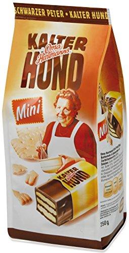 Oma Hartmann's KALTER HUND Kekse mit Kakaocrémefüllung, jedes Stück einzeln verpackt im Flowpack und im Beutel, 250 g
