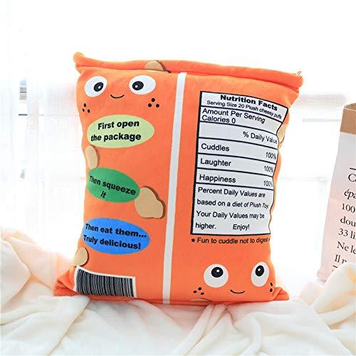De verkoop van mooie oranje babyspeelgoed ring papieren zak pufjes Plush toys (Color : Orange, Size : 48 * 38cm)