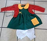 HMADE Chilindrina Costume Gift Kids Girl Size 6 Chavo del Ocho Party Gift Halloween Disfraz 4PC