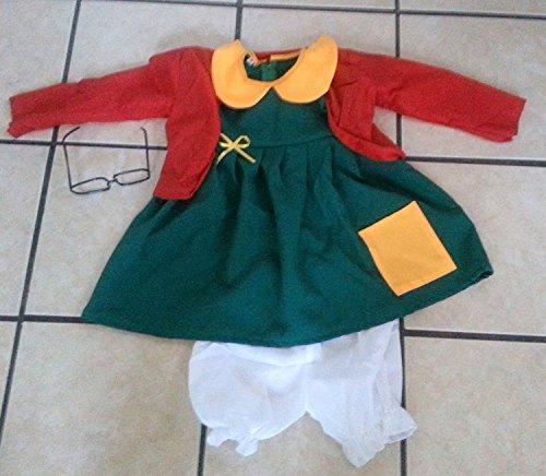 HMADE Chilindrina Costume Gift Kids Girl Size 6 Chavo del Ocho Party Gift Halloween Disfraz 4PC