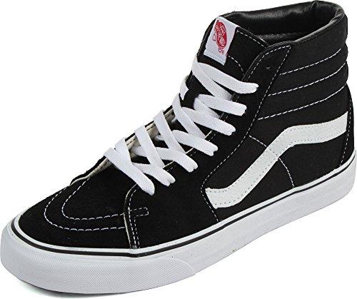 Vans Sk8-Hi, Sneakers Alti Unisex - Adulto, Nero (Black/White), 48 EU