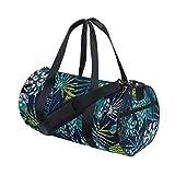 Rootti - Bolsa de deporte para gimnasio, diseño de palma, con cremallera, bolsa de viaje, bolsa de deporte, bolsa de yoga, impermeable, para hombre, mujer, niño y adulto