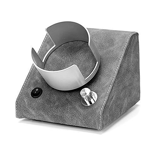 Reloj Windoer - Reloj de Cuero Retro Shaker Silent Motor Watch Blinding Caja de enrollamiento Multi-Gear Mecanical Watch Dispositivo de Giro Doble-Power Watch Caja de Almacenamiento con luz LED