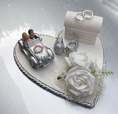 Der-kleine-Dekoladen Geldgeschenk zur Silberhochzeit 25 Jahre Geldverpackung Silber Geldschachtel Geldtablett