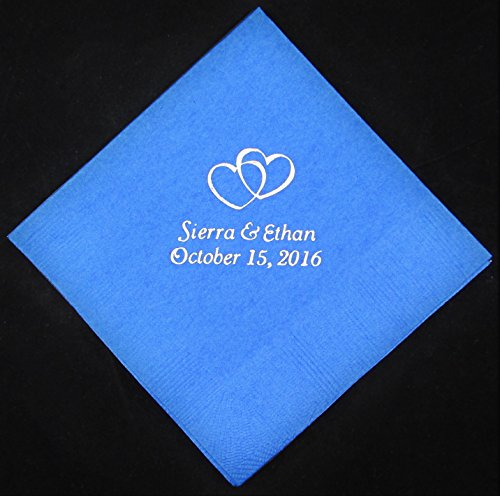 125 personalized luncheon napkins wedding favors custom printed napkins baby shower