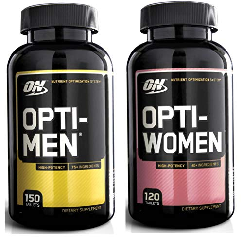 Optimum Nutrition Opti-Men 150 Multivitamin Tablets + Opti-Women 120 Capsules