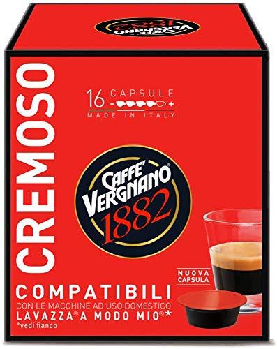 128 Capsule Caffè Vergnano Cremoso Compatibili Lavazza A Modo Mio - 8 confezioni da 16 capsule