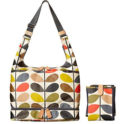 Orla Kiely Damen Etc Classic Stem Baby Bag with Changing Mat Schultertasche, Mehrfarbig (Multi), 14.2x38x32 Centimeters