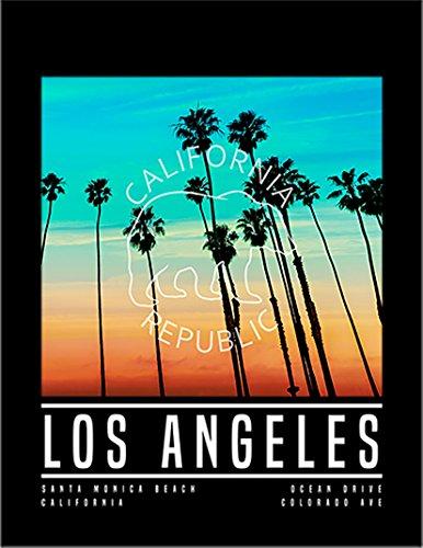 【FOX REPUBLIC】【サンセット ロサンゼルス カリフォルニア ビーチ】 黒光沢紙(フレーム無し)A4サイズ