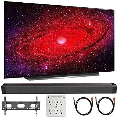 LG CX 4K OLED TV w/AI ThinQ (2020) with Deco Gear Soundbar Bundle by LG
