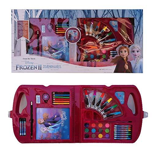 Maletín de colores Frozen II Disney Elsa Anna, 30 piezas, en caja...