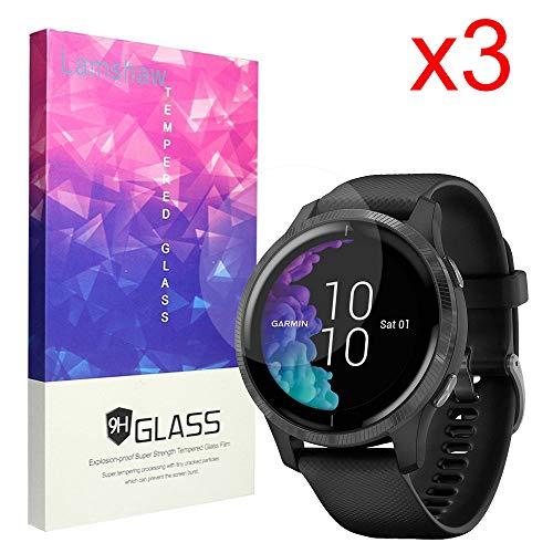 Compatible for Garmin Venu Screen Protector, Blueshaw 9H Tempered Glass Screen Protector Compatible for Garmin Venu Bluetooth Smartwatch (3 Pack)