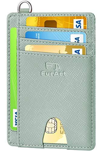 FurArt Billetera minimalista delgada (portatarjetas de crédito, bloqueo RFID, billeteras con bolsillo...