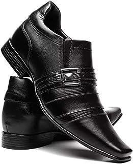 Sapato Social Masculino Em Couro Aumenta Altura 7cm