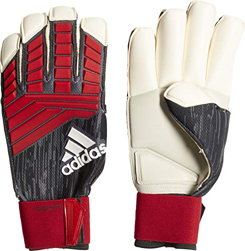 adidas Predator Fingertip Torwarthandschuhe, Black/Red/White, 11