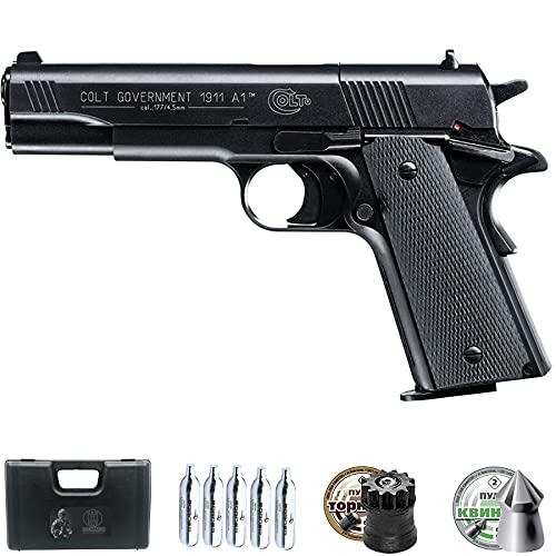 Pistola de balines Colt Government 1911 A1 CO2   Arma de Aire comprimido semiautomática para perdigones Calibre 4,5mm